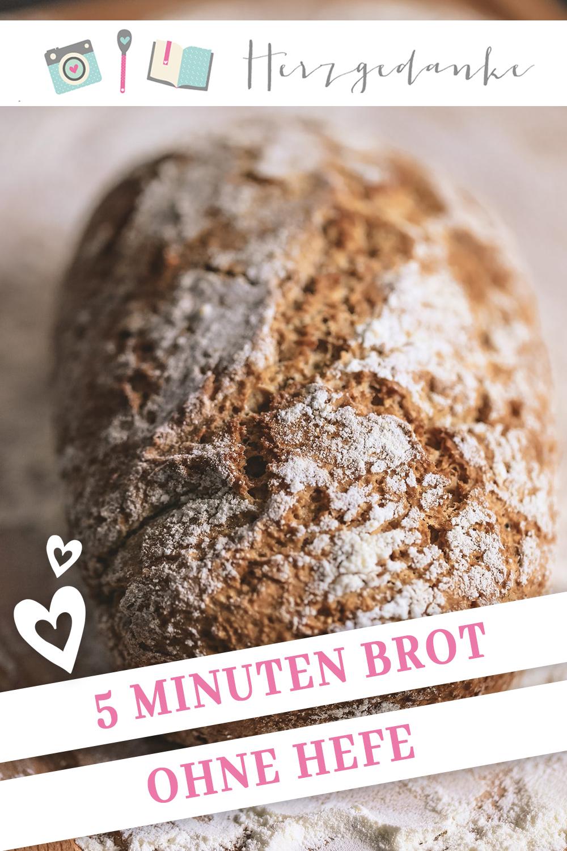 5 Minuten Brot ohne Hefe