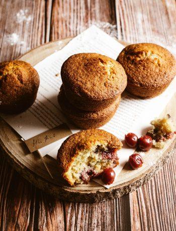 Kirsch Muffins mit Frischkäse aus dem Thermomix®
