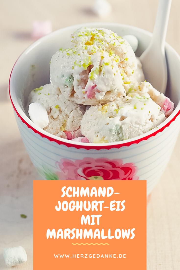 Schmand-Joghurt-Eis mit Marshmallows mit und ohne Thermomix®
