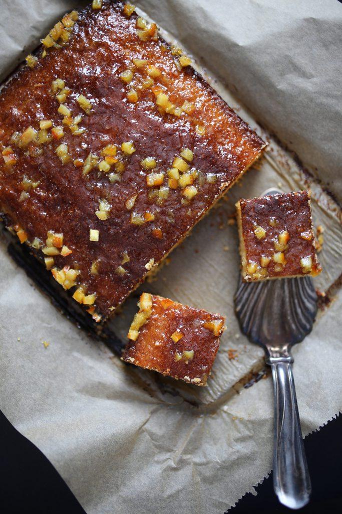 Zitronen-Polenta-Kuchen ohne Mehl