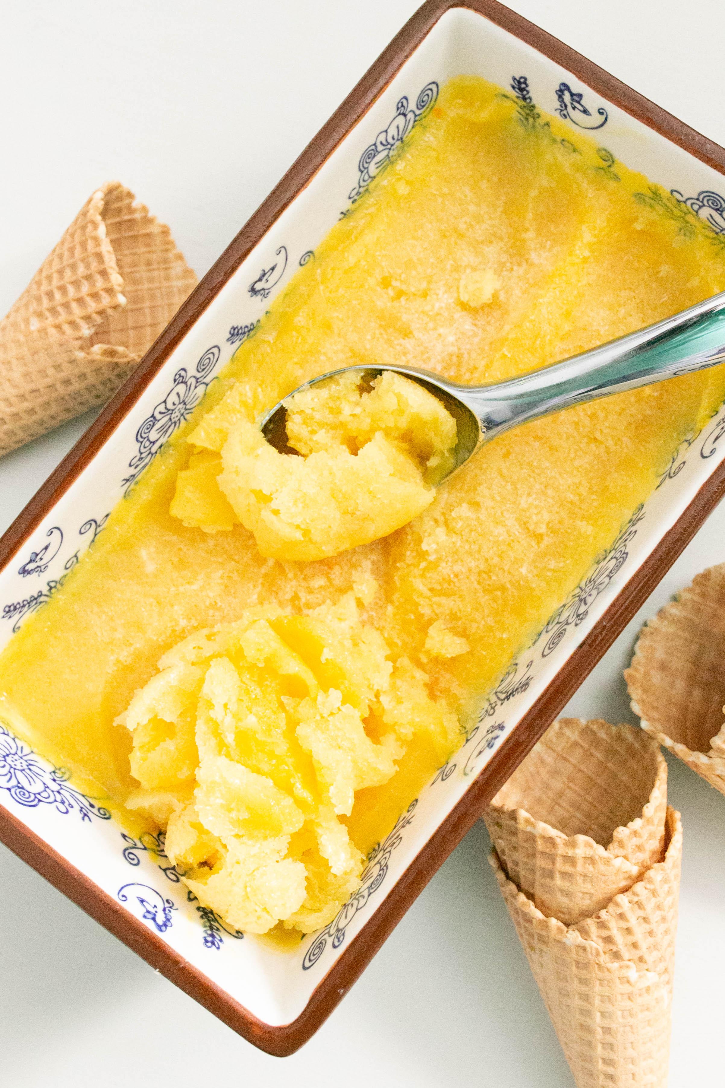 Erfrischendes Orangensorbeit aus dem Thermomix®