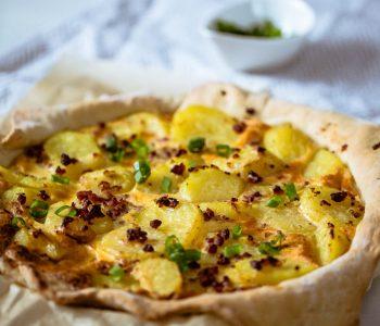 Herzhafte Bratkartoffel-Tarte aus dem Thermomix®
