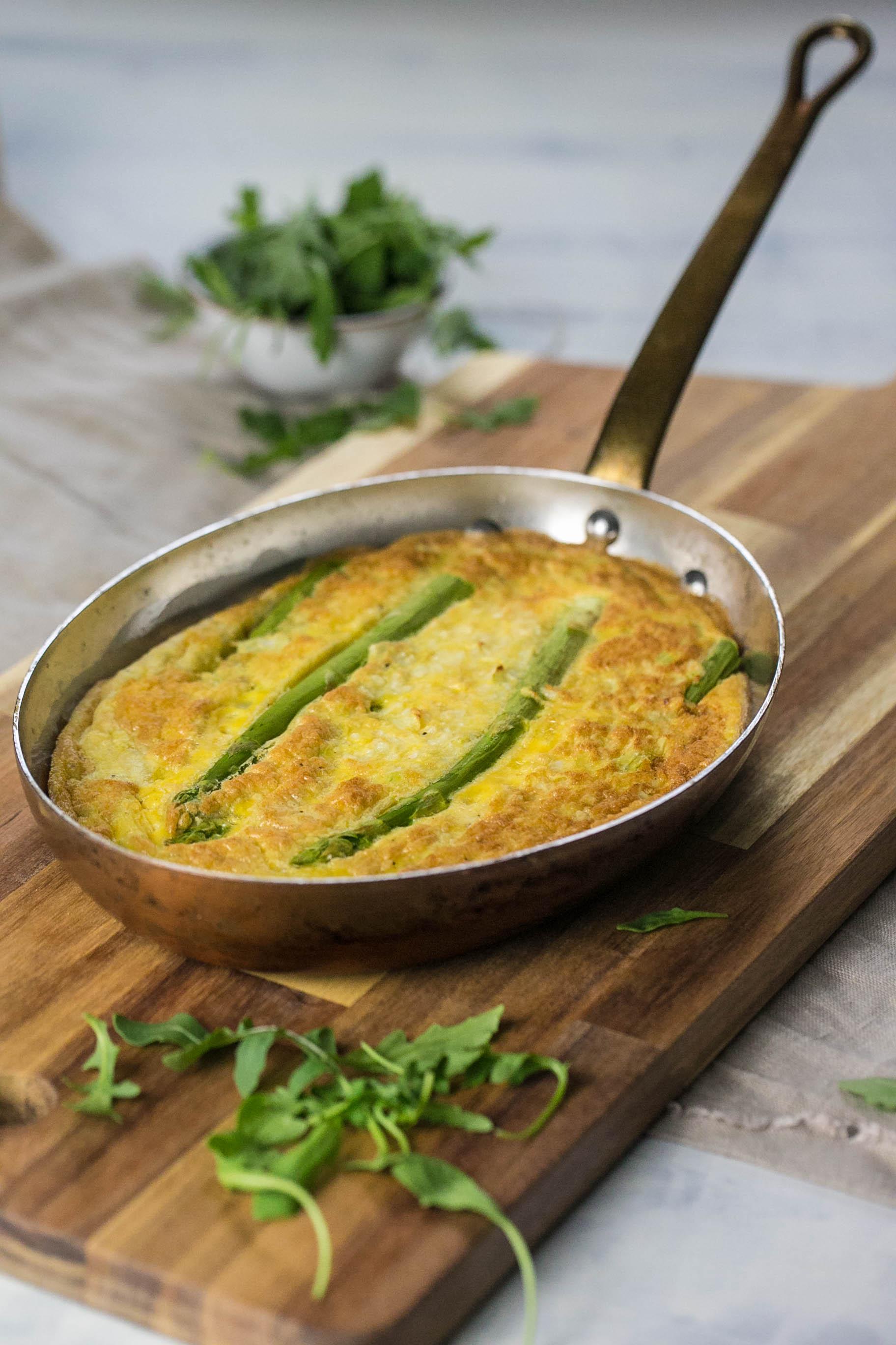 Tortilla mit Spargel und Rucola aus dem Thermomix®