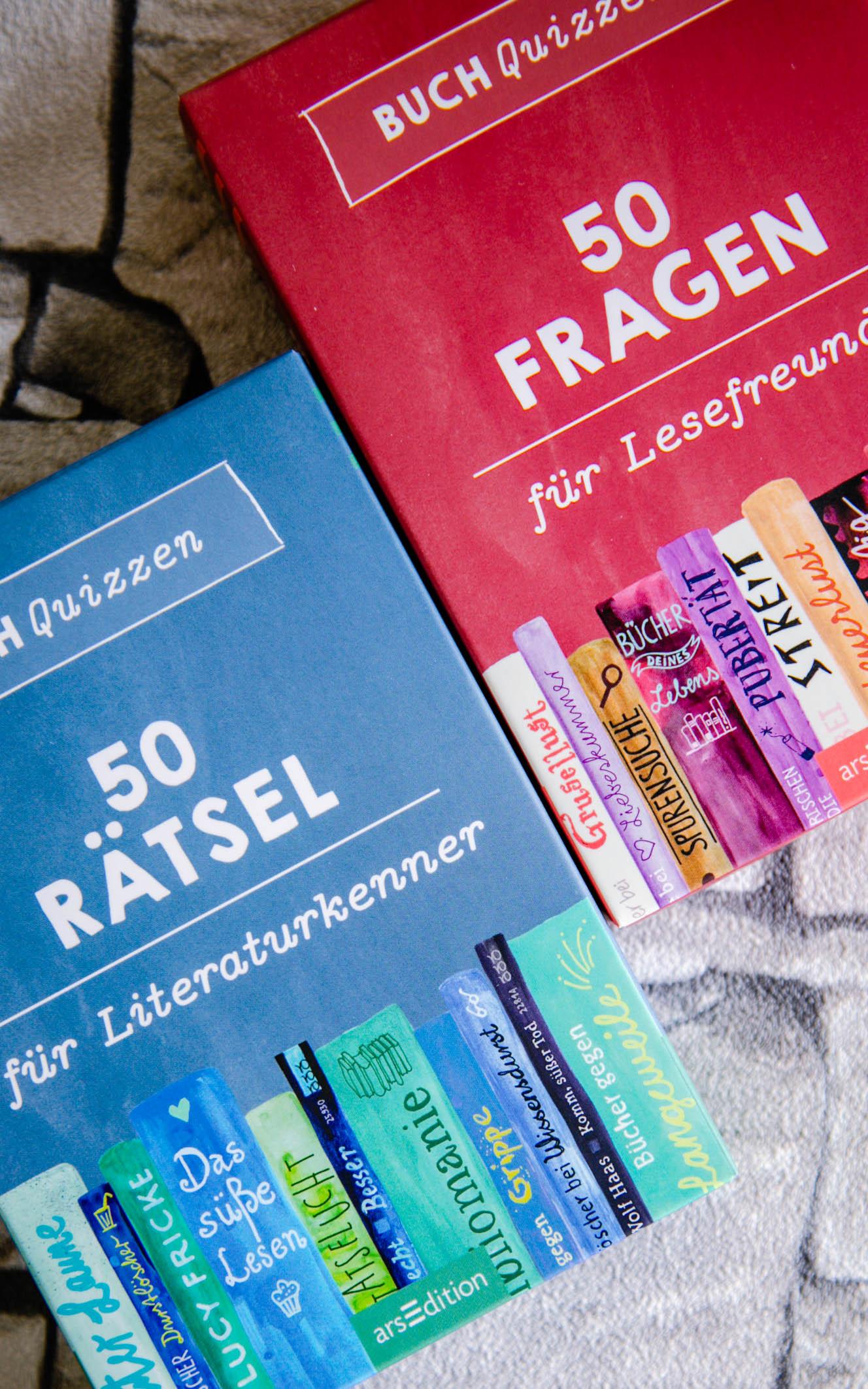 50 Fragen für Lesefreunde - 50 Rätsel für Literaturkenner -arsEdition
