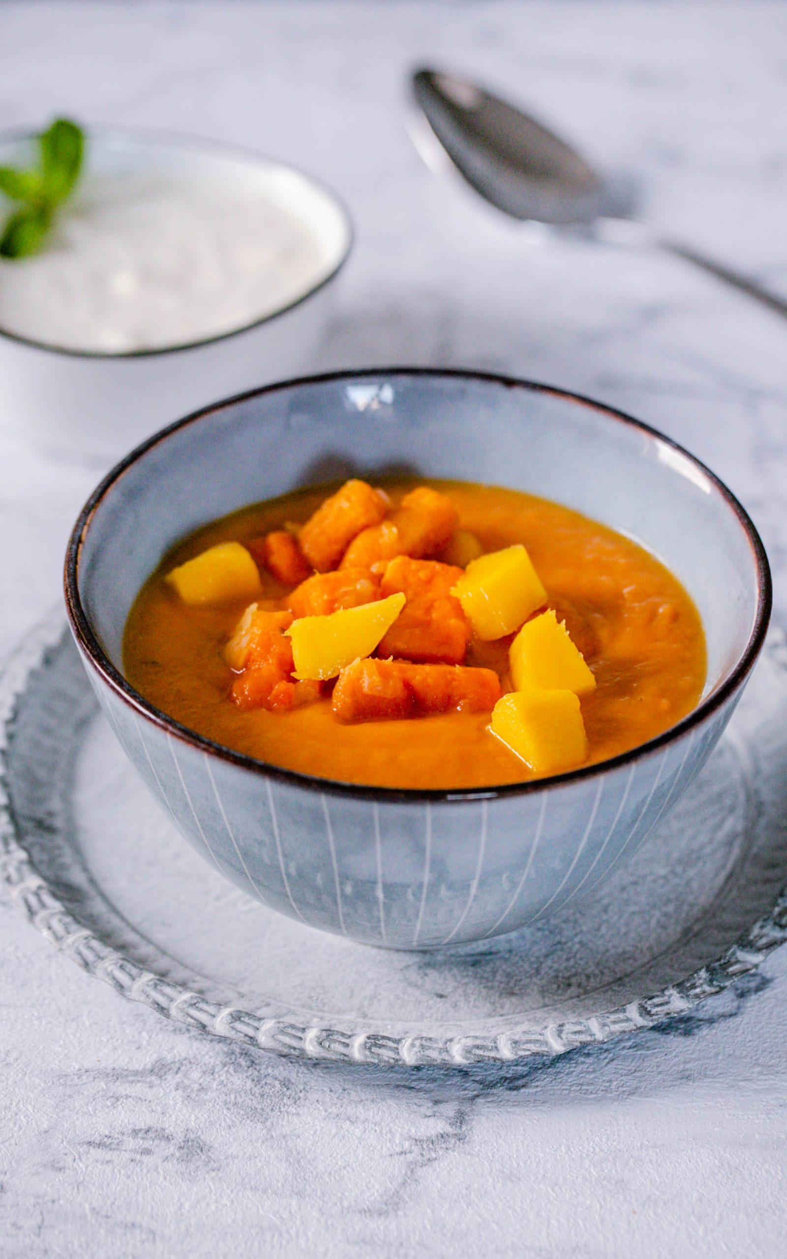 Cremige Süßkartoffelsuppe mit Mango aus dem Thermomix®