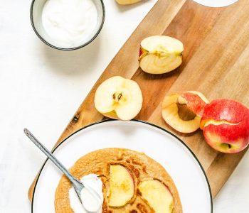 Apfelpfannkuchen mit süßem Quark aus dem Thermomix®