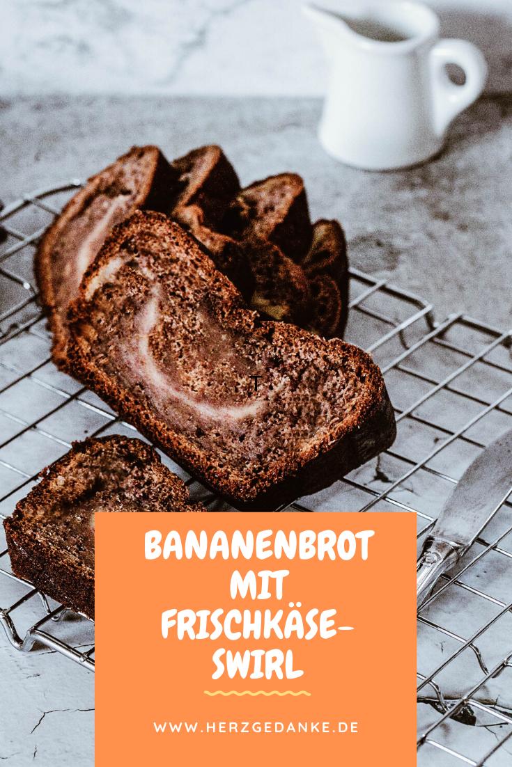 Bananenbrot mit Frischkäse-Swirl aus dem Thermomix®