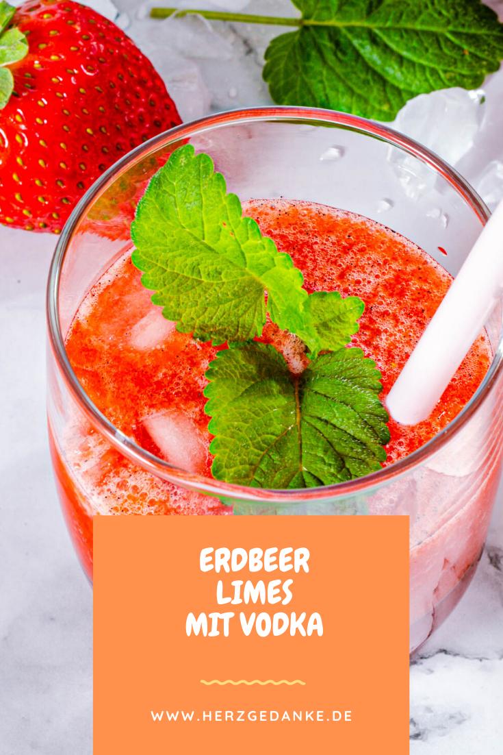 Erdbeer Limes mit Vodka und Cranberrysirup aus dem Thermomix®