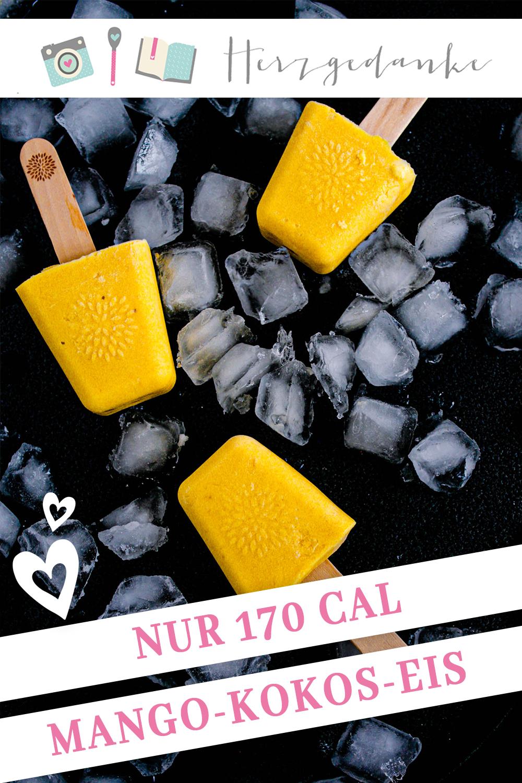Mango-Eis mit Kokos - kalorienfreundlich
