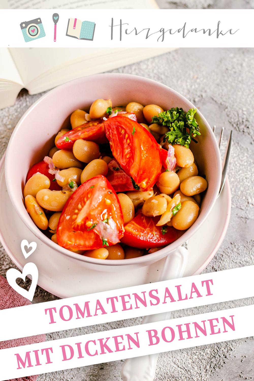 Tomaten-Salat mit dicken Bohnen