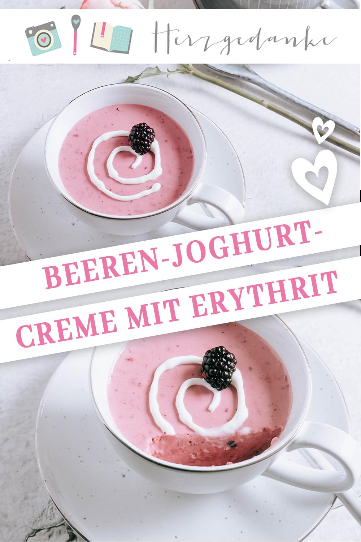 Beeren-Joghurt-Creme mit Erythrit