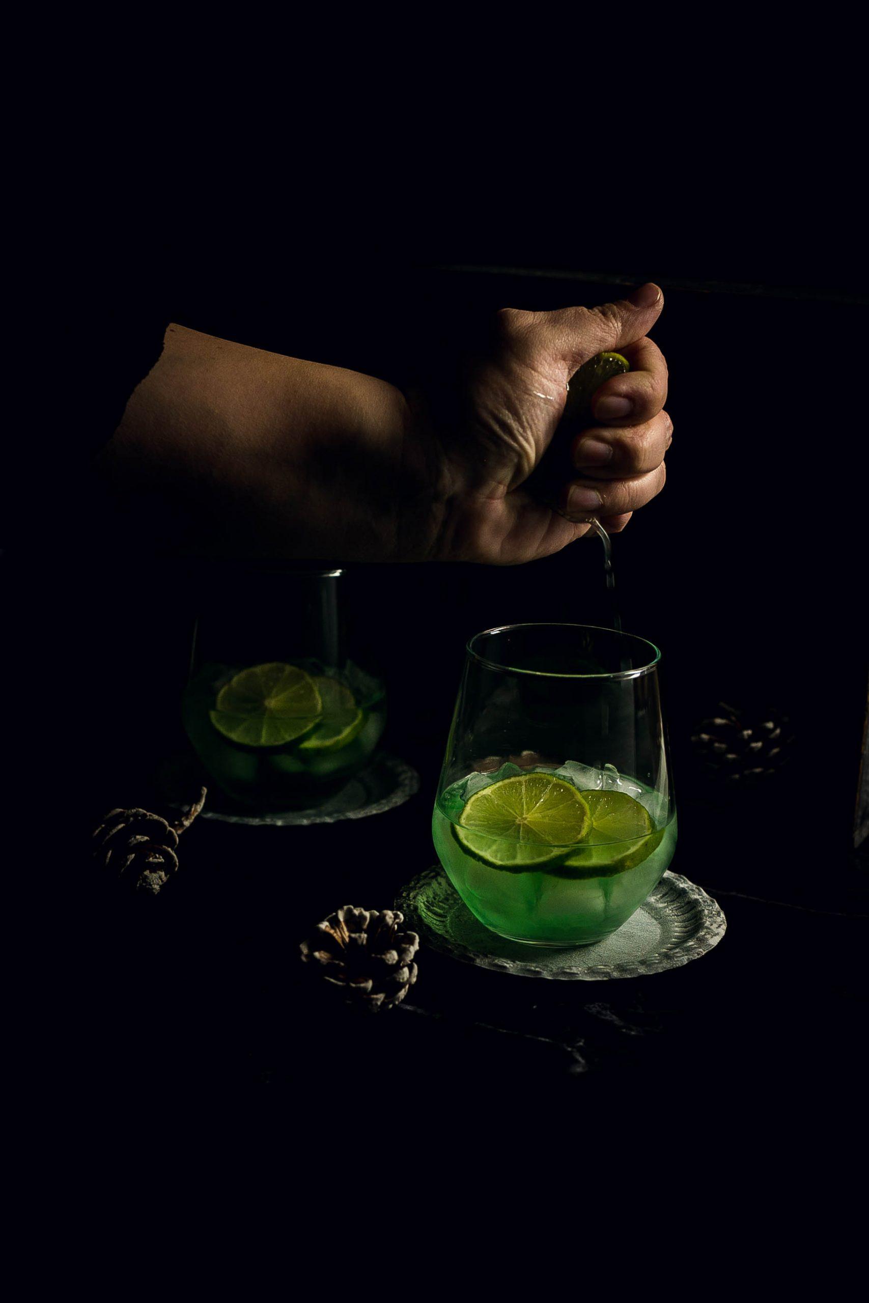 Weihnachtscocktail - Frangelico Minz Lime
