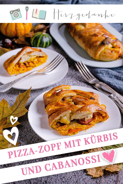 Pizzazopf mit Kürbis, Cabanossi und Mozzarella
