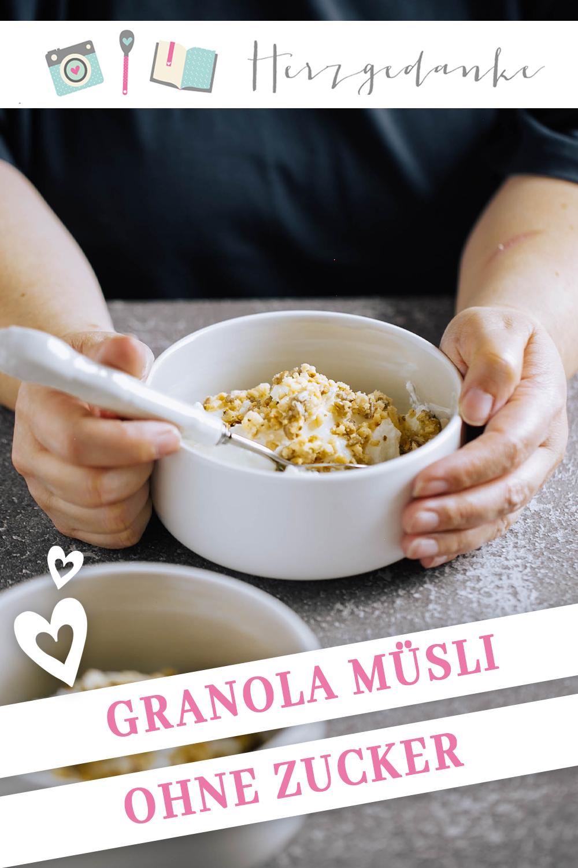 Granola Müsli ohne Zucker