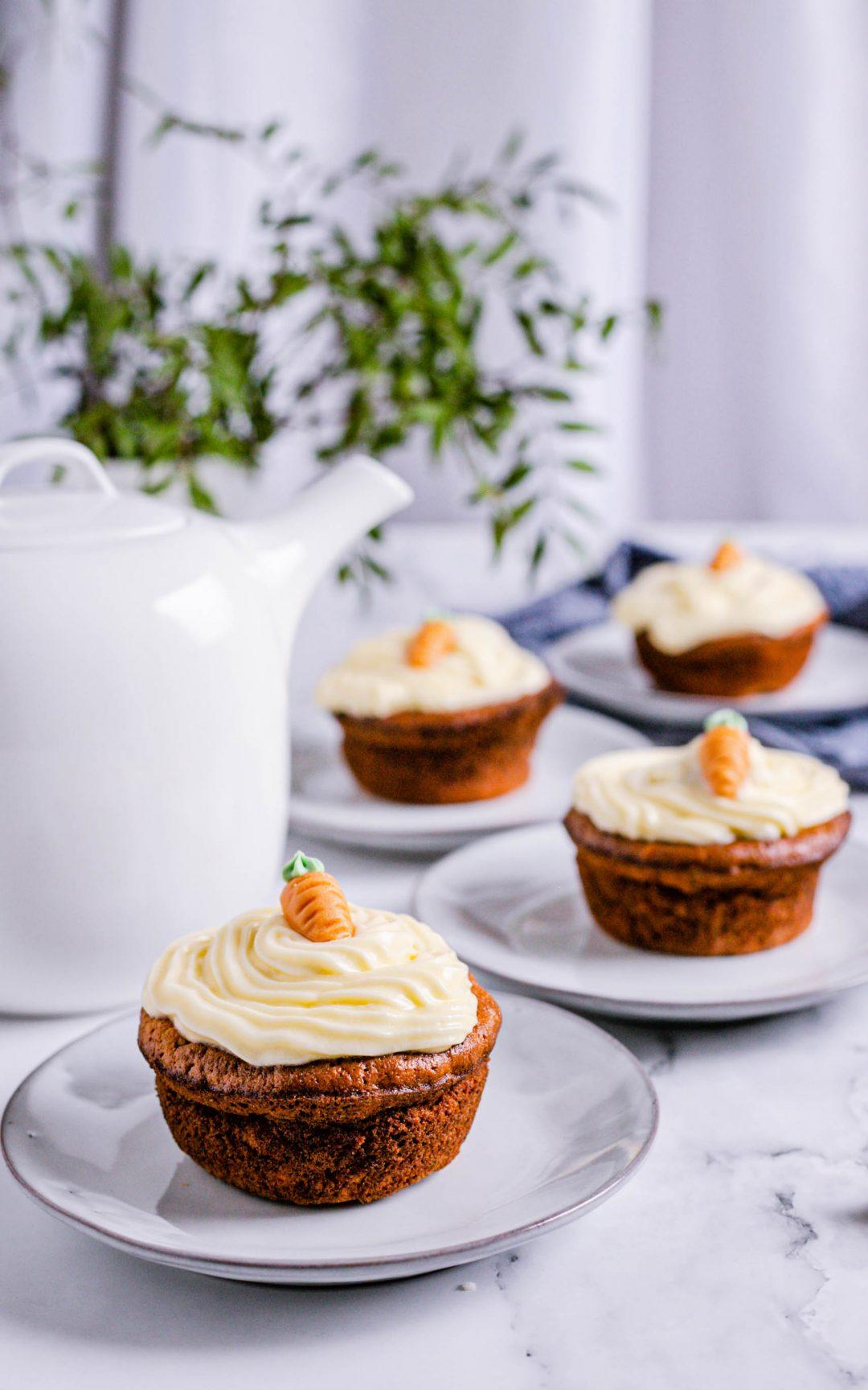 Karottenmuffins mit Buttercreme