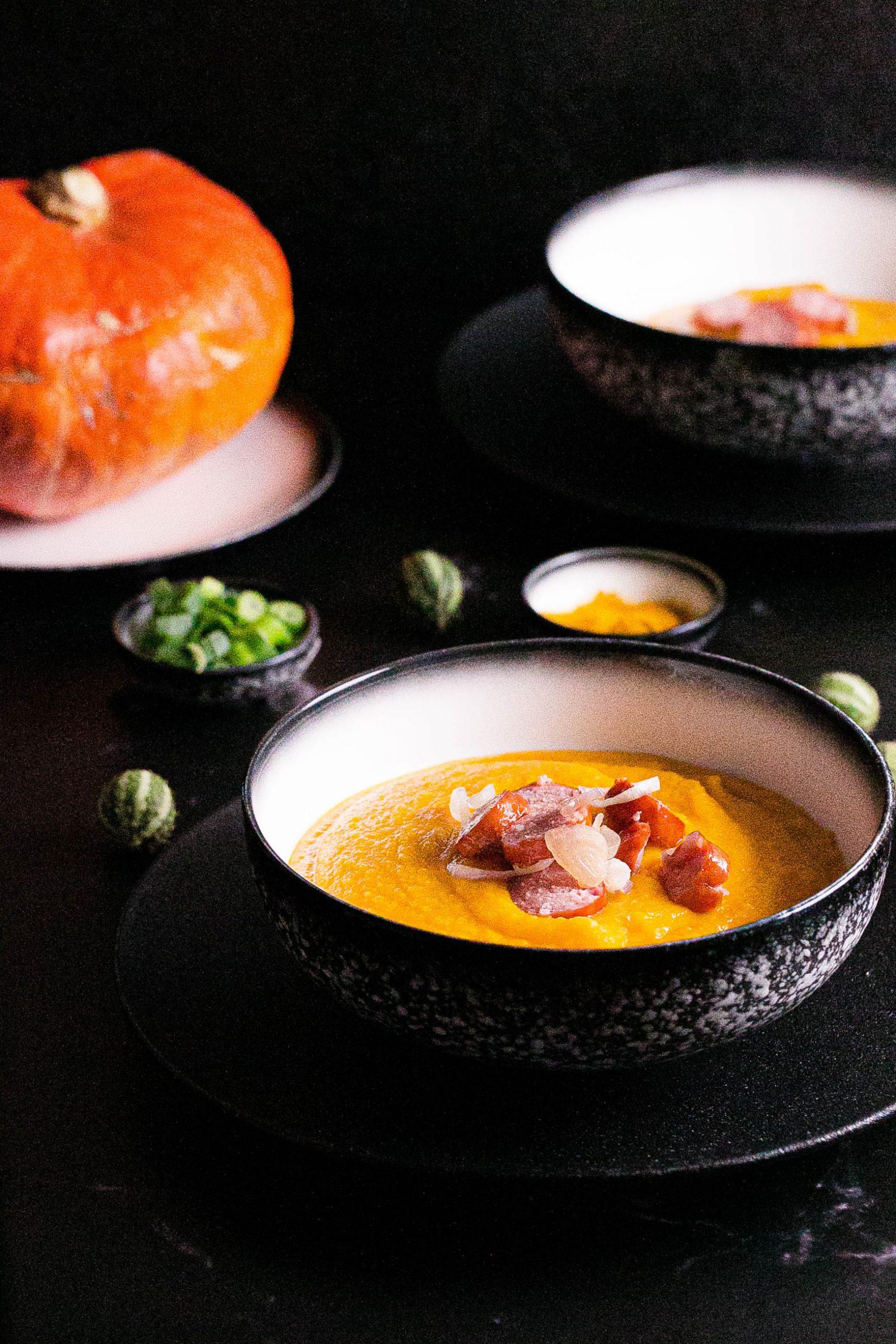 Kürbissuppe mit Süßkartoffeln aus dem Thermomix®