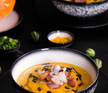 Kürbissuppe mit Süßkartoffeln